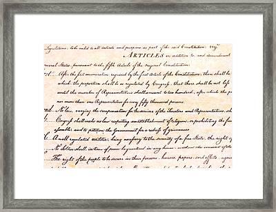 First Amendment  Framed Print by Jim Pruitt