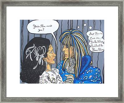 First And Last Words Framed Print by Sarah Crumpler
