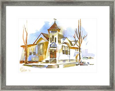 Framed Print featuring the painting First Baptist Church In Winter by Kip DeVore