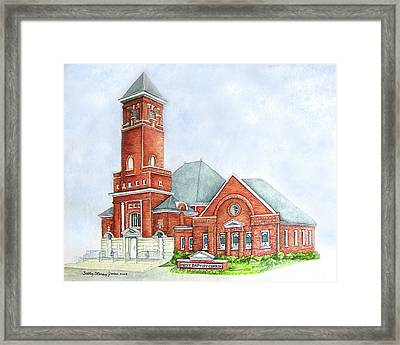 First Baptist Church Of Carrollton Ga Painting By Sally
