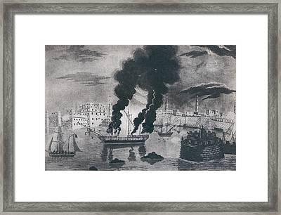 First Barbary War 1801-1805. Burning Framed Print by Everett