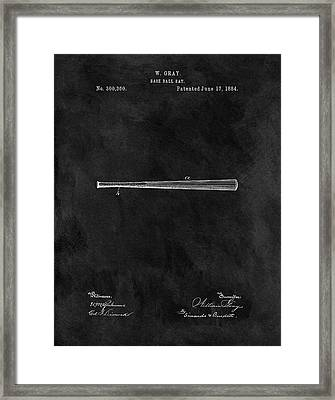 First Baseball Bat Patent Framed Print