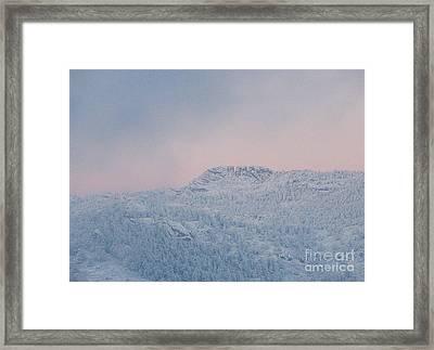 First Big Snow On Horsetooth Mountain Framed Print by Jeffrey Birr