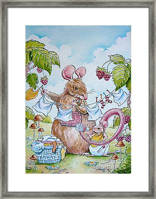 First Birthday Framed Print by Debbie  Diamond