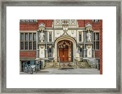 Framed Print featuring the photograph First Campus Center Princeton University by Susan Candelario