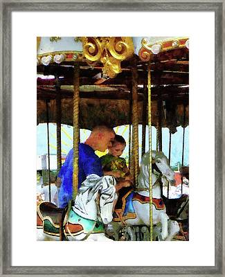 First Carousel Ride Framed Print by Susan Savad