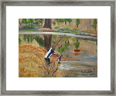 First Cast Framed Print by ChrisMoses Tolliver