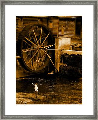 First Catch Framed Print by Jessica Burgett