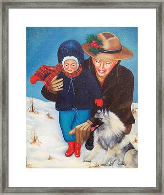First Christmas Framed Print by Joni McPherson