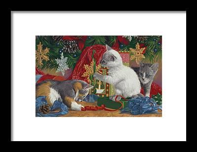 Calico Kitten Framed Prints