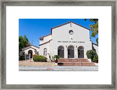 First Church Of Christ Scientist Petaluma California Usa Dsc3797 Framed Print