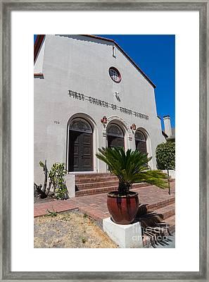 First Church Of Christ Scientist Petaluma California Usa Dsc3817 Framed Print