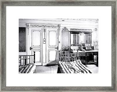 First Class Stateroom C65 On Titanic Framed Print by The Titanic Project
