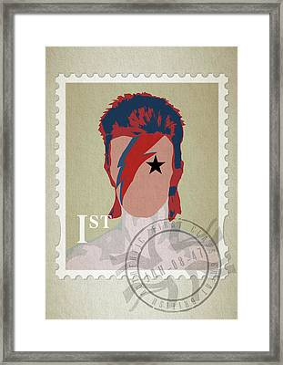 First Class Bowie - Cream Framed Print