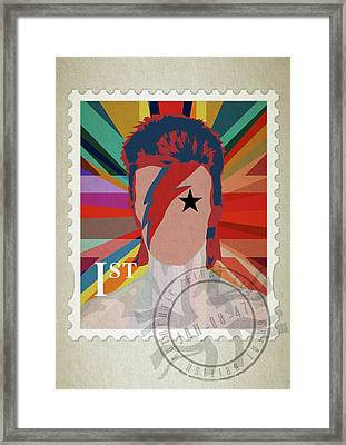 First Class Bowie - Union Framed Print