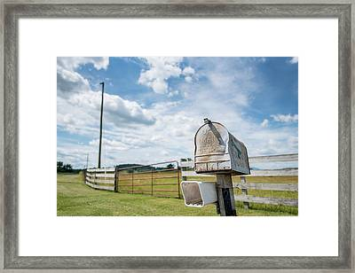 First Class Delivery Framed Print