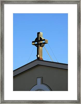 First Congregation Church Framed Print by Troy Montemayor