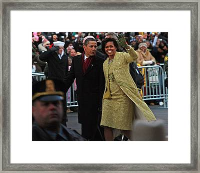 First Couple Walking Framed Print by Charlie Parker
