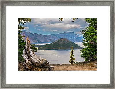 First Crater View Framed Print