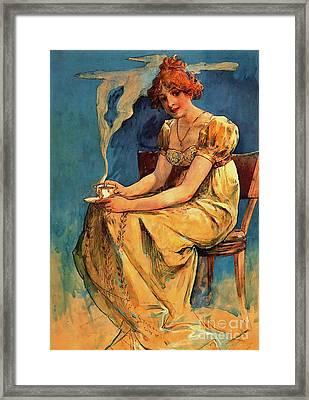 First Cup C1890 Framed Print