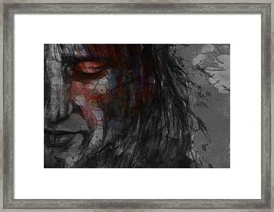 First Cut Is The Deepest Rod Stewart  Framed Print