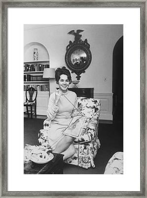 First Daughter, Eisenhower Crafting Framed Print