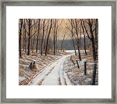 First Day Of Winter Framed Print