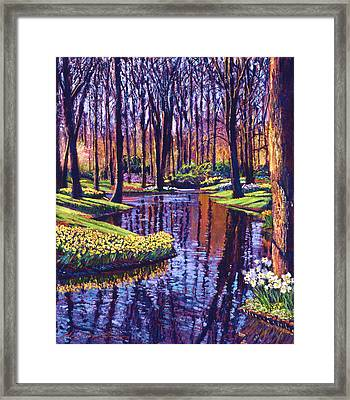 First Days Of Spring Framed Print by David Lloyd Glover