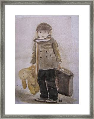 First Departure Framed Print by Annie Poitras