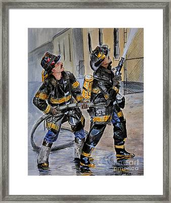 First Due-engine  73 Framed Print by Paul Walsh