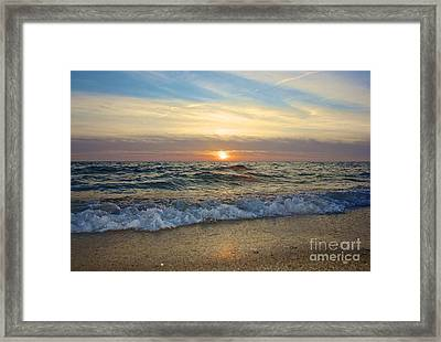 First Encounter Beach Framed Print by Amazing Jules