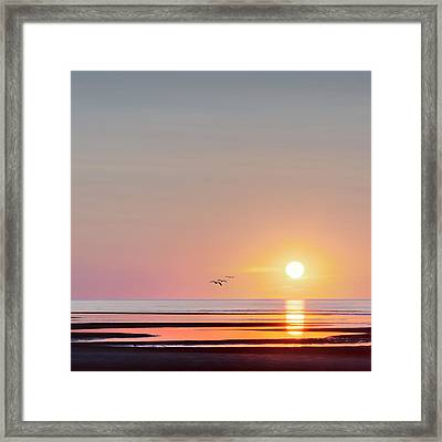 First Encounter Beach Cape Cod Square Framed Print