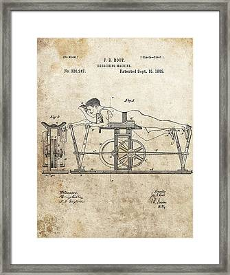 First Exercise Machine Patent Framed Print