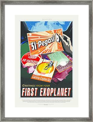 First Exoplanet Framed Print