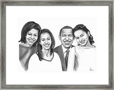 First-family 2013 Framed Print