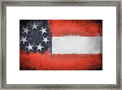 First Flag Of The Confederacy Framed Print