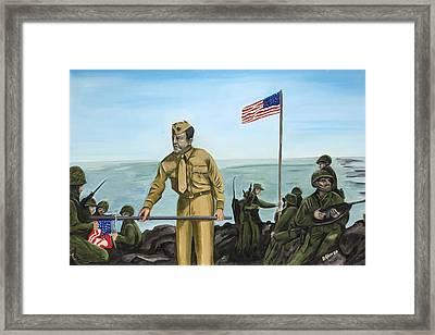 First Flag Raising Iwo Jima Framed Print