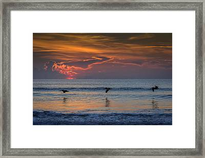 Framed Print featuring the photograph First Flight First Light by Steven Sparks
