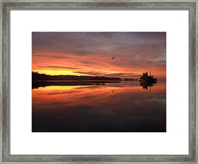 First Flight Out  Framed Print by Mark Alan Perry