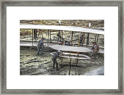 First Flight Wright Brothers Framed Print by Randy Steele