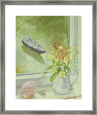 First Flowers And Shells Framed Print by Timothy Easton