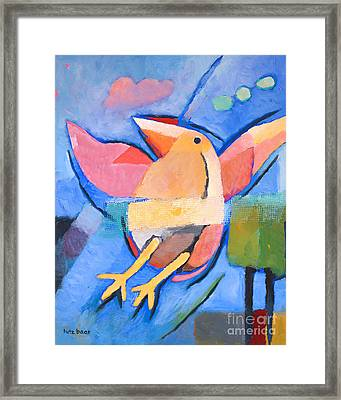 First Fly Painting Framed Print by Lutz Baar