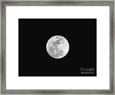 First Full Moon Of 2016 Framed Print by Eddie Yerkish
