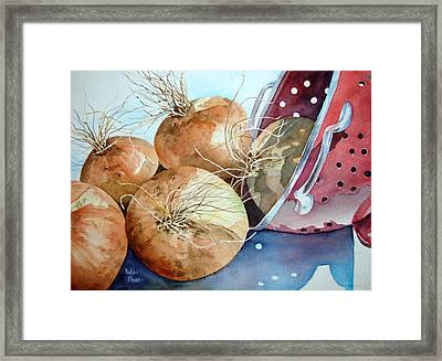 First Harvest Framed Print by Bobbi Price