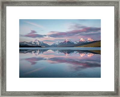 First Ice Off // Lake Mcdonald, Glacier National Park  Framed Print