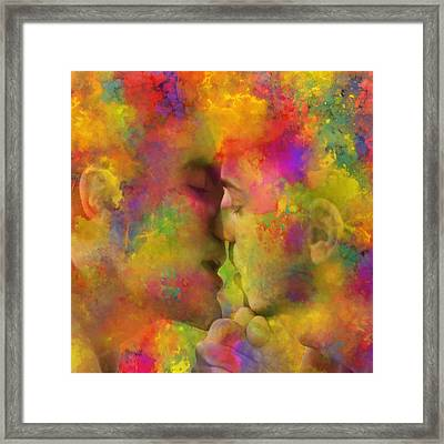 First Kiss Framed Print by Mac Titmus