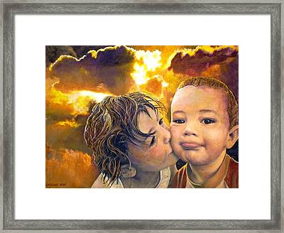 First Kiss Framed Print by Michael Durst