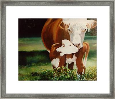 First Kiss Framed Print by Valerie Aune