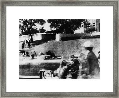 First Lady Jacqueline Kennedy Turns Framed Print by Everett