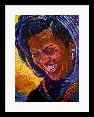 Michele Obama Artwork Framed Prints